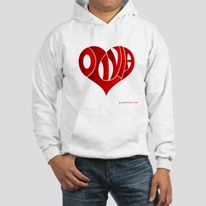 Olivia (Red Heart) Hooded Sweatshirt