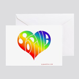 Sophia (Rainbow Heart) Greeting Card