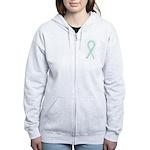 Teal Paws4Cure Women's Zip Hoodie