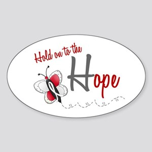 Hold On To Hope 1 Butterfly 2 PEARL/WHITE Sticker
