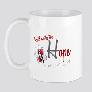 Hold On To Hope 1 Butterfly 2 PEARL/WHITE Mug
