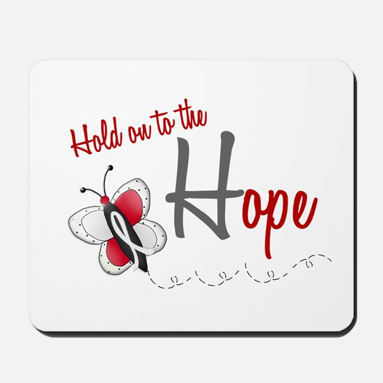 Hold On To Hope 1 Butterfly 2 PEARL/WHITE Mousepad