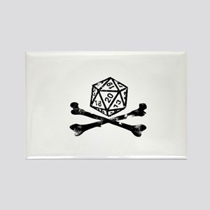 D20 and crossbones Rectangle Magnet
