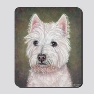 Westie (head study) Mousepad