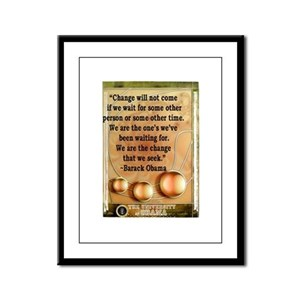 """Change will not come..."" Bar Framed Panel Print"