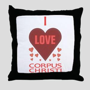 I Love Corpus Christi Throw Pillow