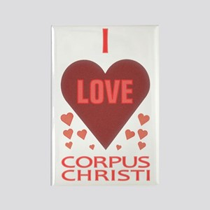 I Love Corpus Christi Rectangle Magnet