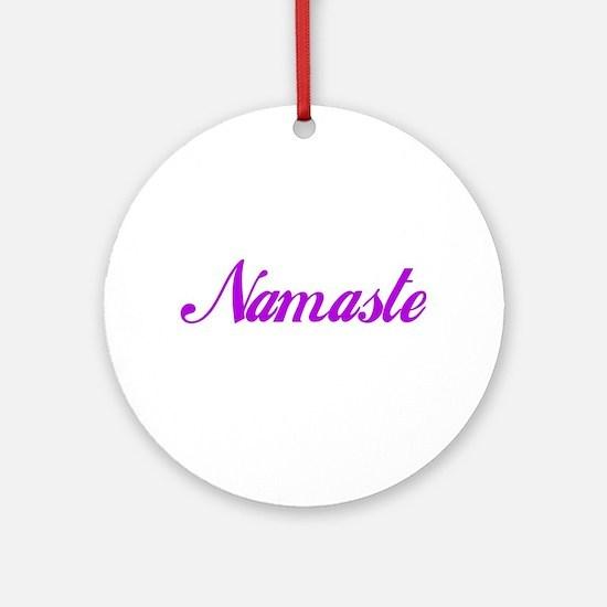 "Namaste Ornament Round Fob Charm 3"" Pendant"