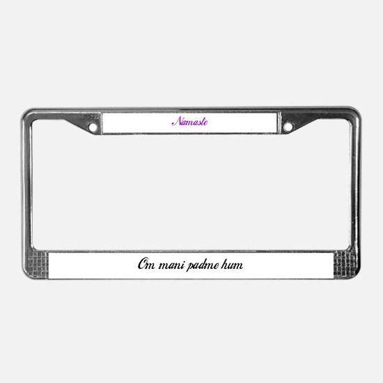 Mantra License Plate Frame