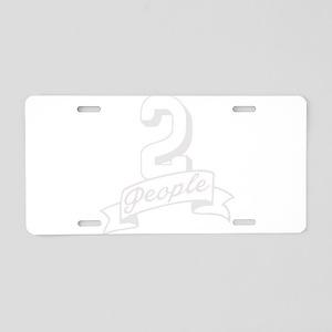 2 People Aluminum License Plate