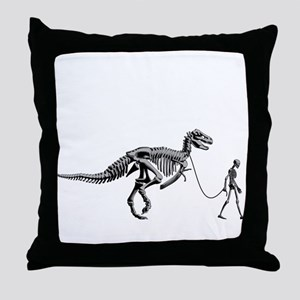 Dinosaur Walk Throw Pillow