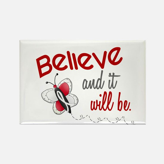 Believe 1 Butterfly 2 PEARL/WHITE Rectangle Magnet