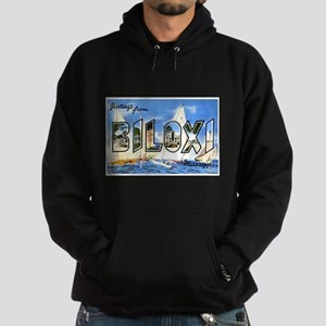 Biloxi Mississippi Greetings Hoodie (dark)
