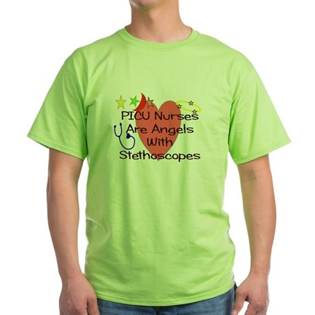 Pediatrics/PICU Green T-Shirt
