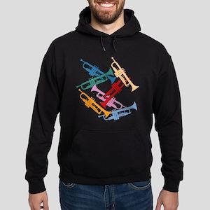 Colorful Trumpets Hoodie (dark)