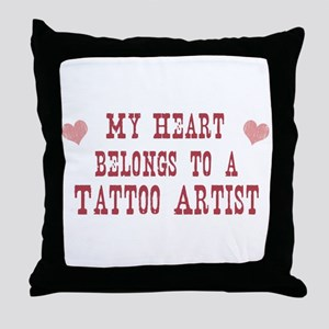 Belongs to Tattoo Artist Throw Pillow