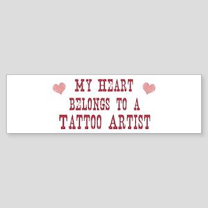 Belongs to Tattoo Artist Bumper Sticker