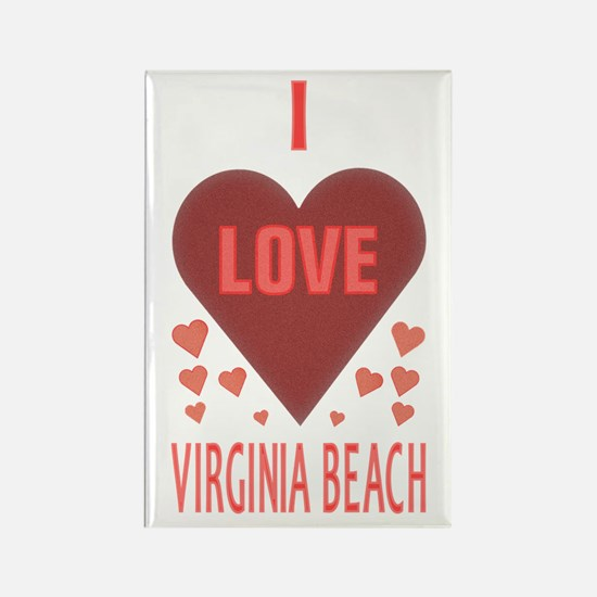 I Love Virginia Beach Rectangle Magnet