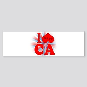 I No Heart California Bumper Sticker (10 pk)