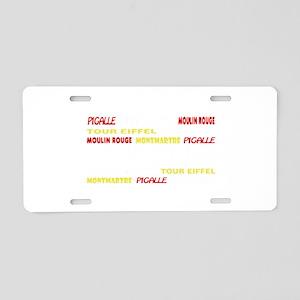Paris places Aluminum License Plate