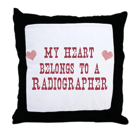Belongs to Radiographer Throw Pillow