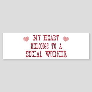 Belongs to Social Worker Bumper Sticker