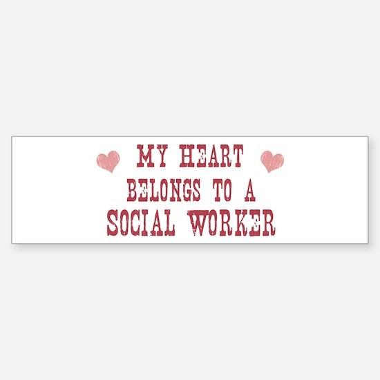 Belongs to Social Worker Bumper Bumper Bumper Sticker