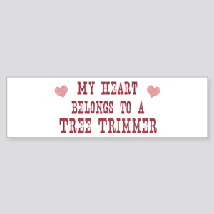 Belongs to Tree Trimmer Bumper Sticker