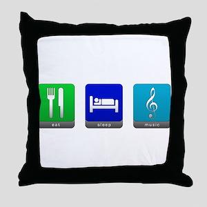 Eat, Sleep, Music Throw Pillow
