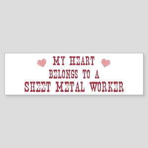 Belongs to Sheet Metal Worker Bumper Sticker