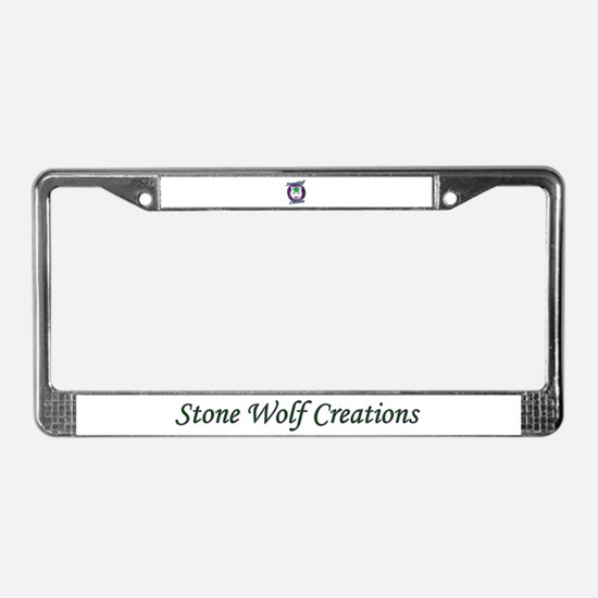Stone Wolf Creations License Plate Frame