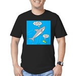 Shark Song Men's Fitted T-Shirt (dark)