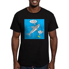Shark Song Men's Fitted T-Shirt (dark)