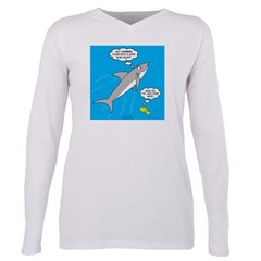 Shark Song Plus Size Long Sleeve Tee