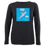 Shark Song Plus Size Long Sleeve Tee