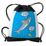 Shark Song Drawstring Bag