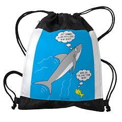 Shark Song Drawstring Bag