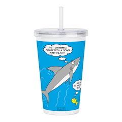Shark Song Acrylic Double-wall Tumbler