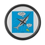 Shark Song Large Wall Clock