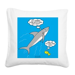 Shark Song Square Canvas Pillow