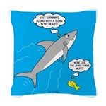 Shark Song Woven Throw Pillow