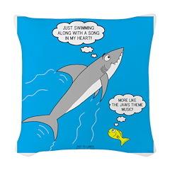 Shark Song Woven Throw Pillow