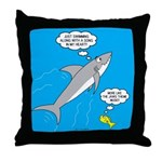 Shark Song Throw Pillow