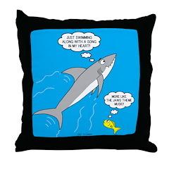 Shark Song Throw Pillow