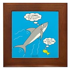 Shark Song Framed Tile