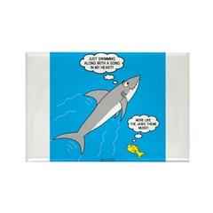 Shark Song Rectangle Magnet (100 pack)