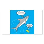 Shark Song Sticker (Rectangle 10 pk)