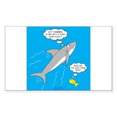 Shark Song Sticker (Rectangle 10 pk)