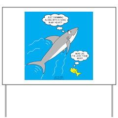 Shark Song Yard Sign