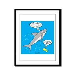 Shark Song Framed Panel Print